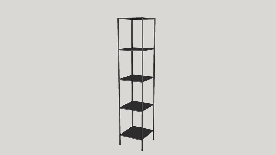 Room & Board Slim Bookcase (15' Wide) | 3D Warehouse