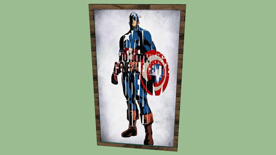 Poster Do Capitão America Grande