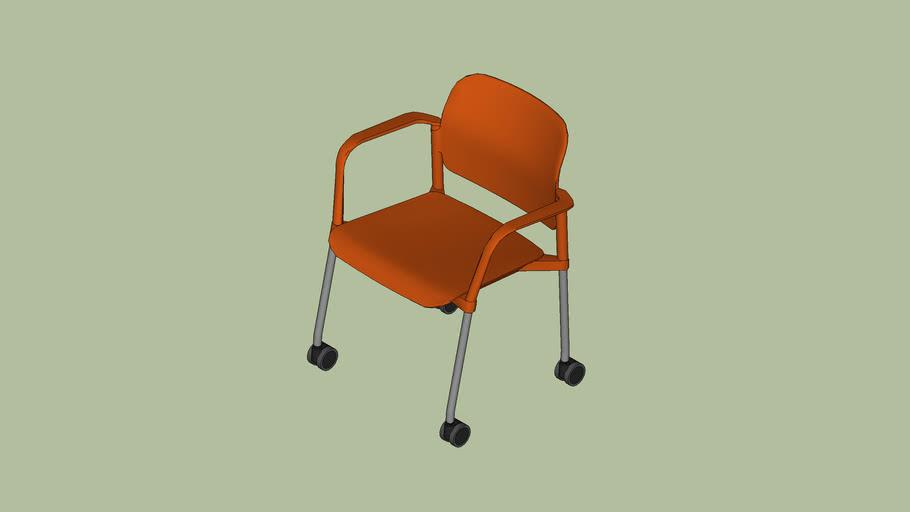 Cadeira de Rodízio com braços - Leaf