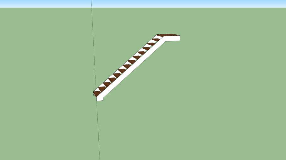 escalera zanca metalica