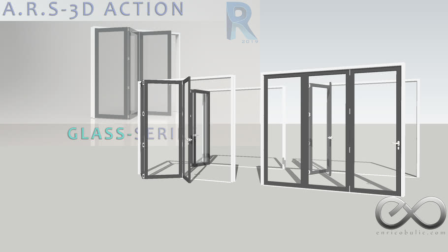 A.R.S Bifold 1 x 3 Glass-Series