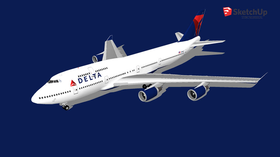 Delta 747-451(N665US)