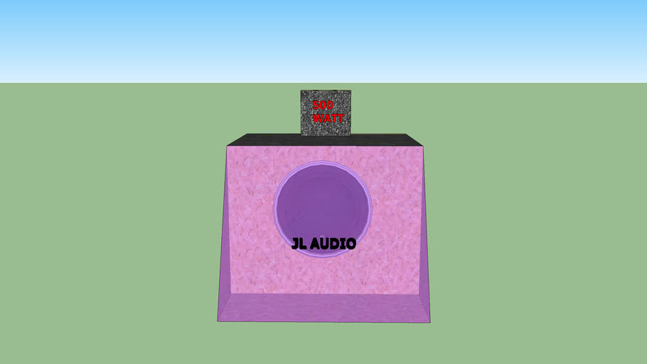 JL Audio 500watt Dubstyle enclosure