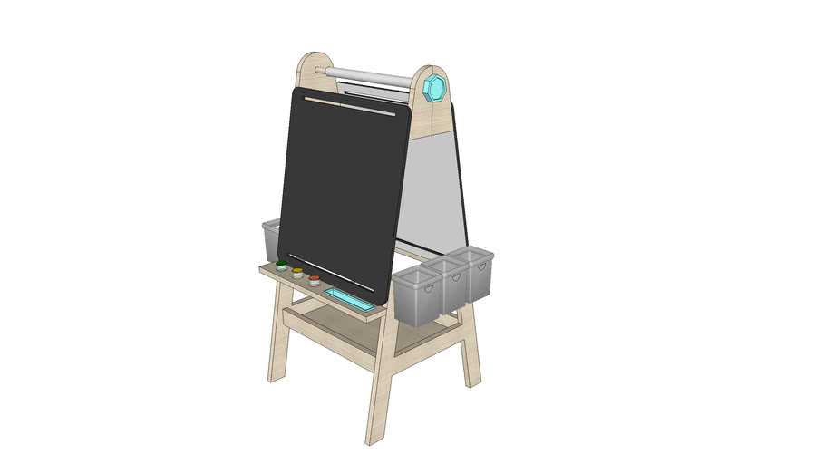 Create and Play Art Board Easel for kids
