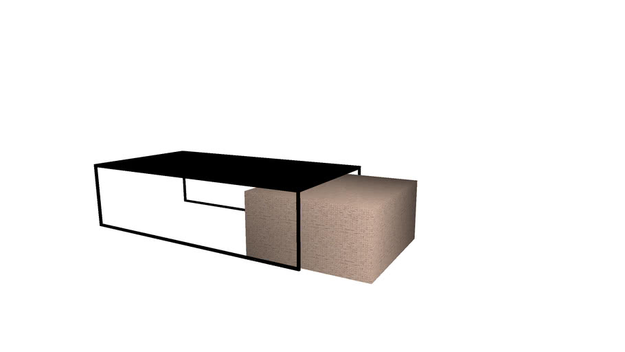 Coffee Table Ottoman Combo 3d Warehouse