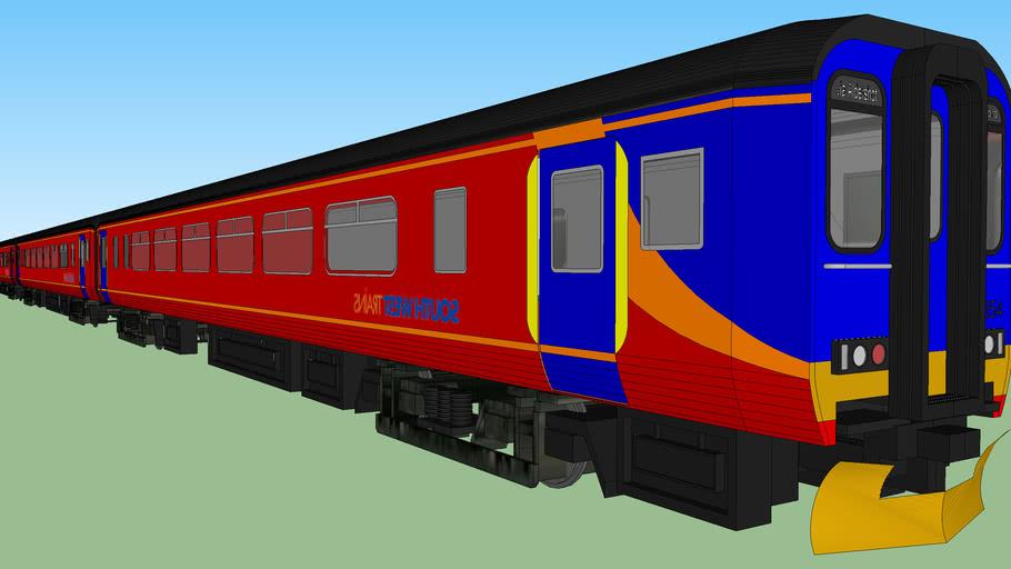 Class 156 Super Sprinter South West Trains 8-Car