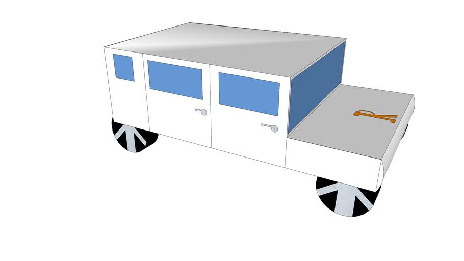 white rhino(prototype jeep 3D scheme)