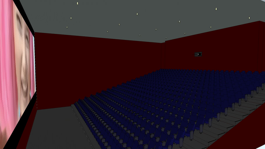 64 foot Widescreen 522 Seat Movie Theater