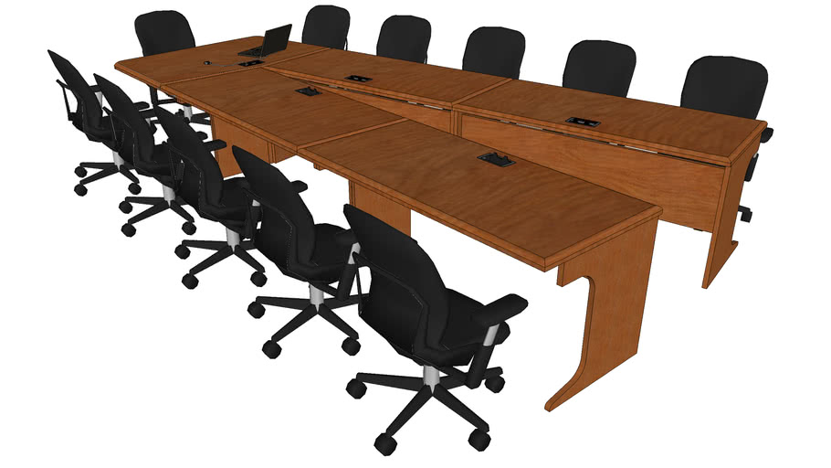 """13' 7"""" Open V Conference Table"""