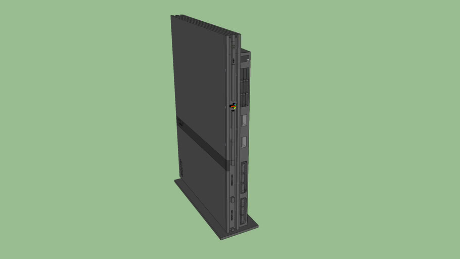 High Detailed Playstation 2 on Stand