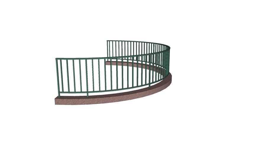 Curb and Rail Barrier