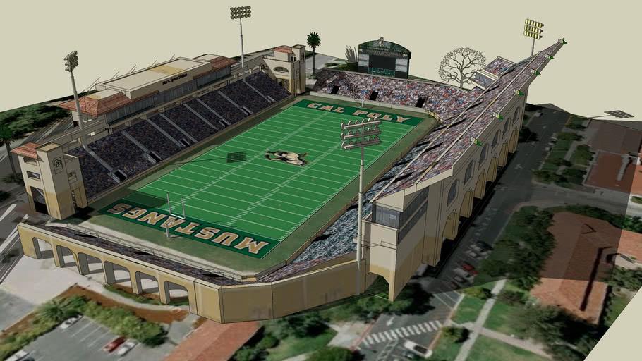 Cal Poly Spanos Stadium Dream Expansion 3d Warehouse