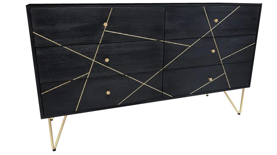 84384 Sideboard Gold Vein