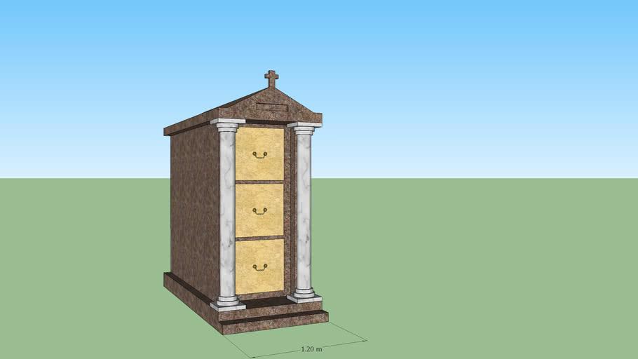 Caveau marbre 3 places