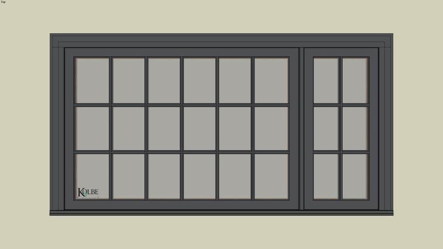 "Kolbe Ultra Picture Unit Combination KUN436PR (F.S. 6'-8"" x 3'-6"" R.O. 6'-8 1/2"" x 3'-6 1/2"")"