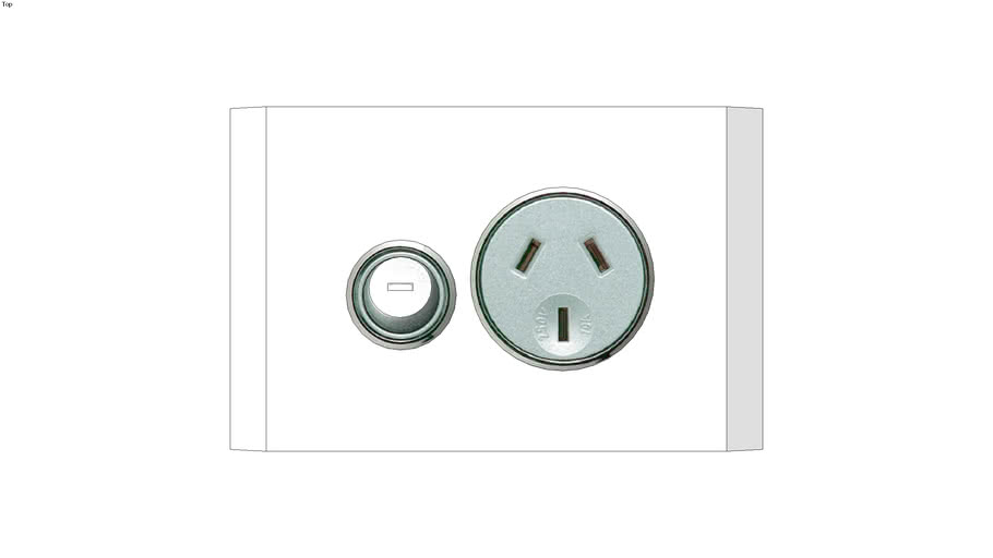 4015Single Switch Socket Outlet, Saturn, 250V, 10A, 1 Gang, Pure White