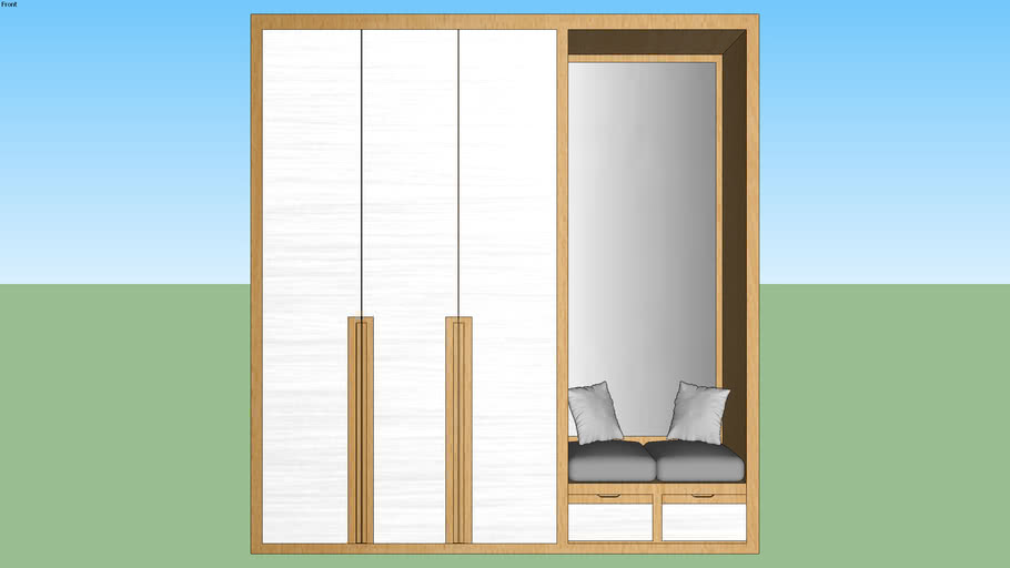 hall wardrobe mirror seat