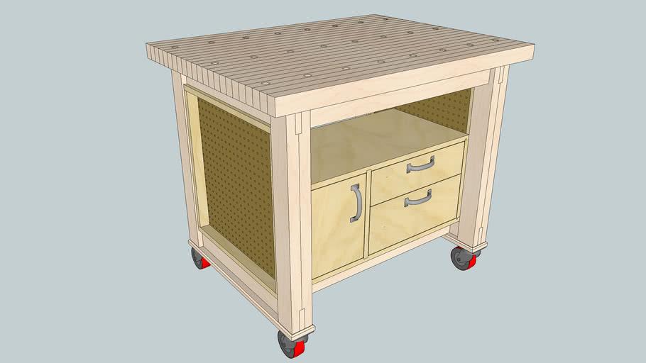 Multipurpose Mobile Shop Cart / Work Bench