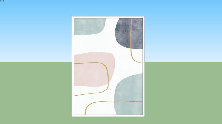 Quadro Abstrato Composição Minimalista IV