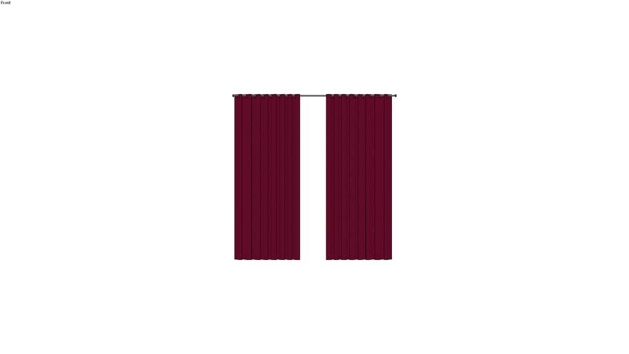 ADELA - Rideau à illets bordeaux 140x250 - Rouge ...