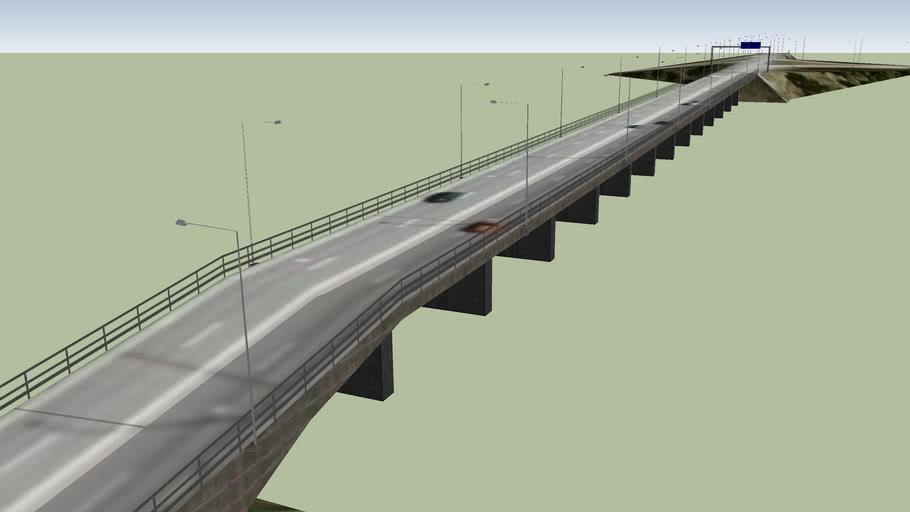 Öland bridge, Sweden - Western Onramp