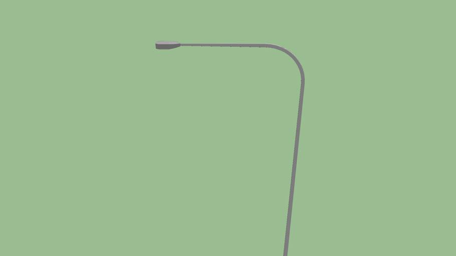 Silver Illinois Curved Street Light