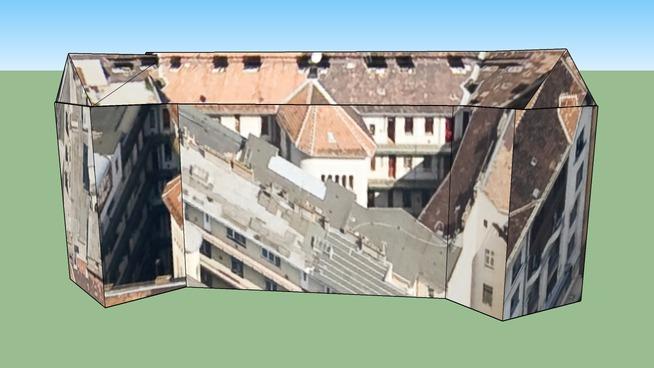 Building in Móricz Zsigmond körtér, Budapest, Hungary