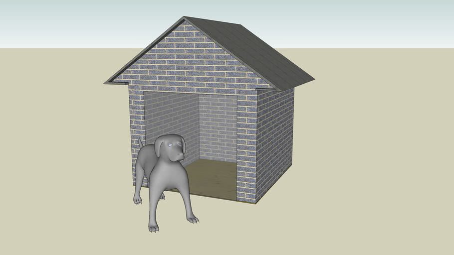 Dog House With Dog