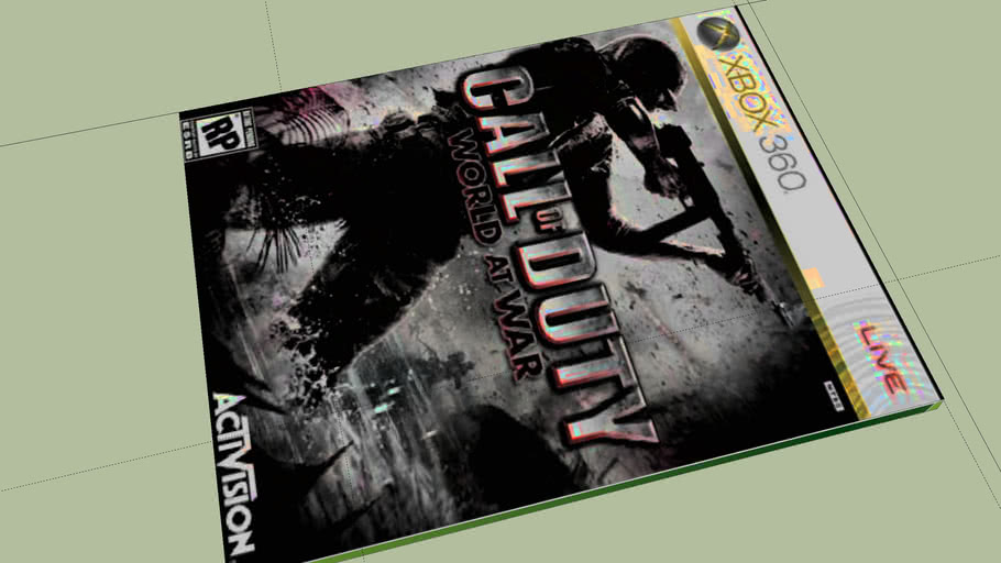 Call of duty: World at war Xbox 360 Game Case