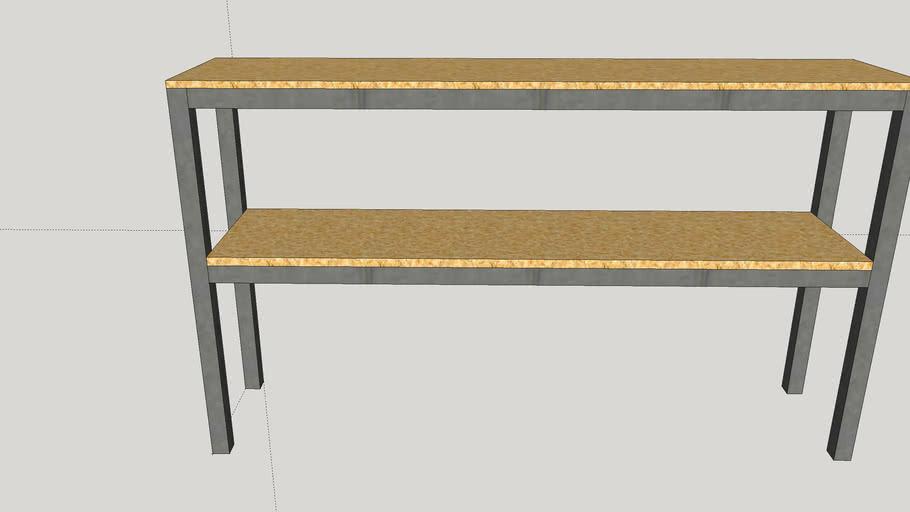 2 Shelf Wide Unit