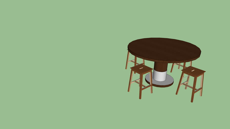 Mesa com 4 bancos