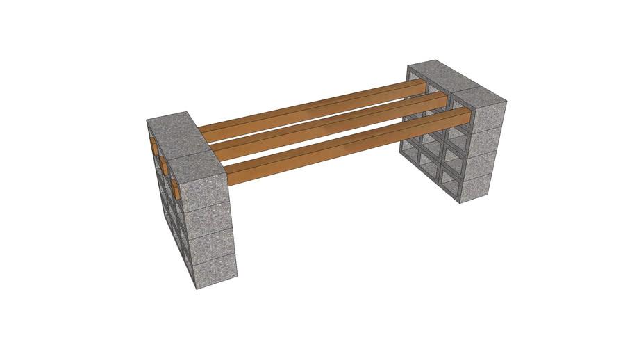 banco de bloco de concreto