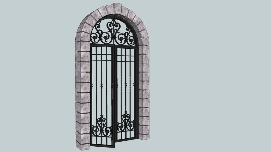ADOBE GRILLE DOOR
