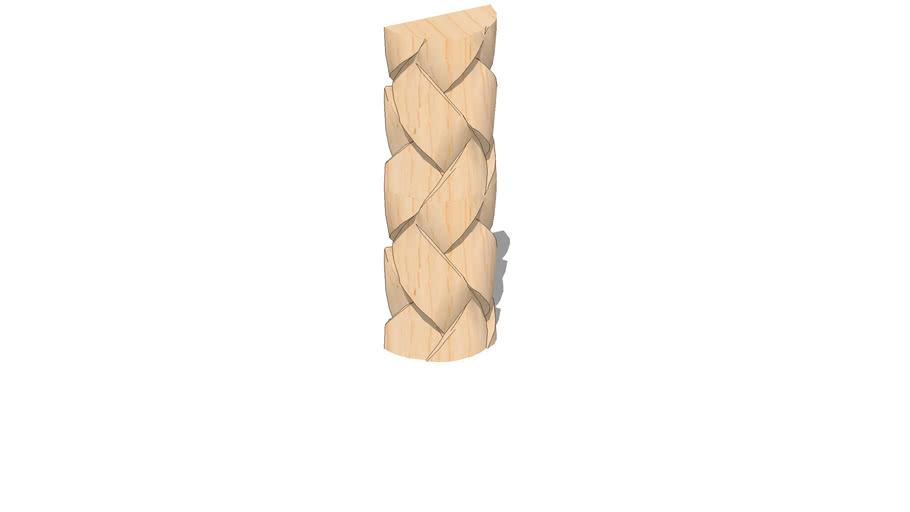 """01962070-2 SERIES 200 Weaved Half Round ( 2"""" x .956"""" x 96"""" )"""