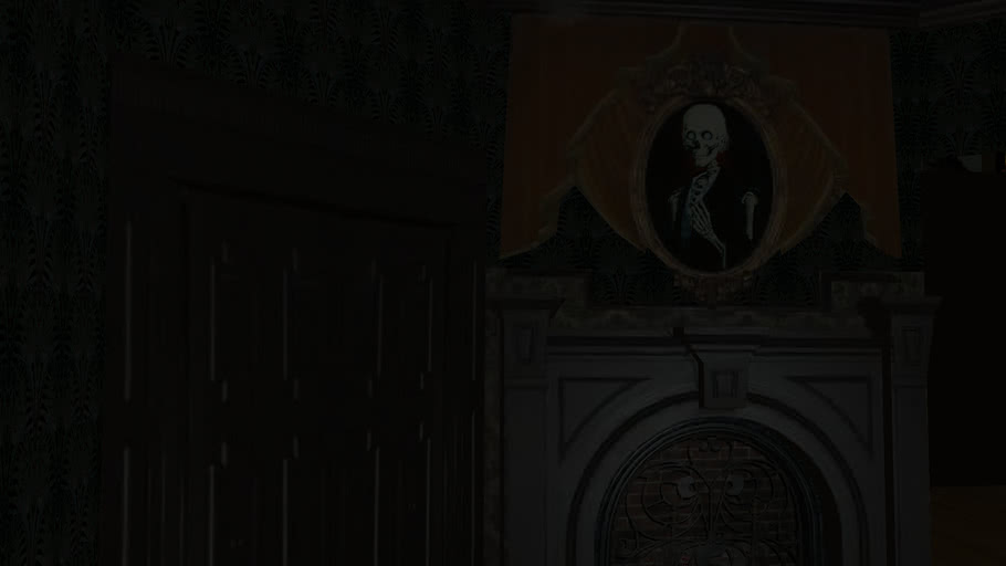 The Entire Haunted Mansion Ride in SketchUp (This is the Disney World version)