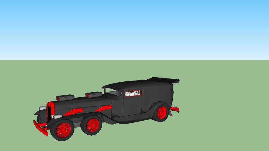 remodeled ford model a van
