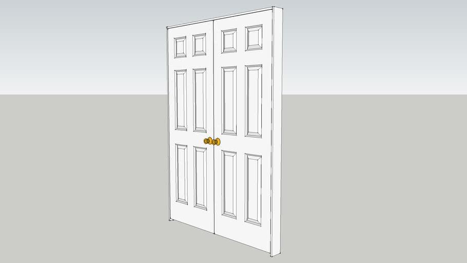 """28"""" Six Panel Double Door"""