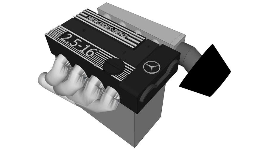 2.5 Mercedes 190E engine.