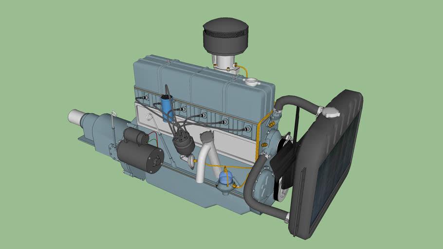 Chevrolet 235 cu. in. 6 cylinder engine