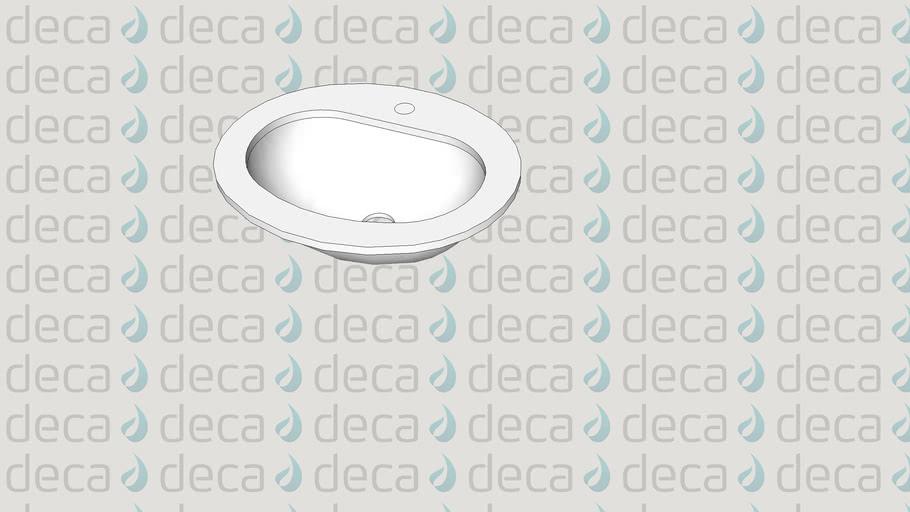 Deca Cuba de Sobrepor Oval - Código LL.170
