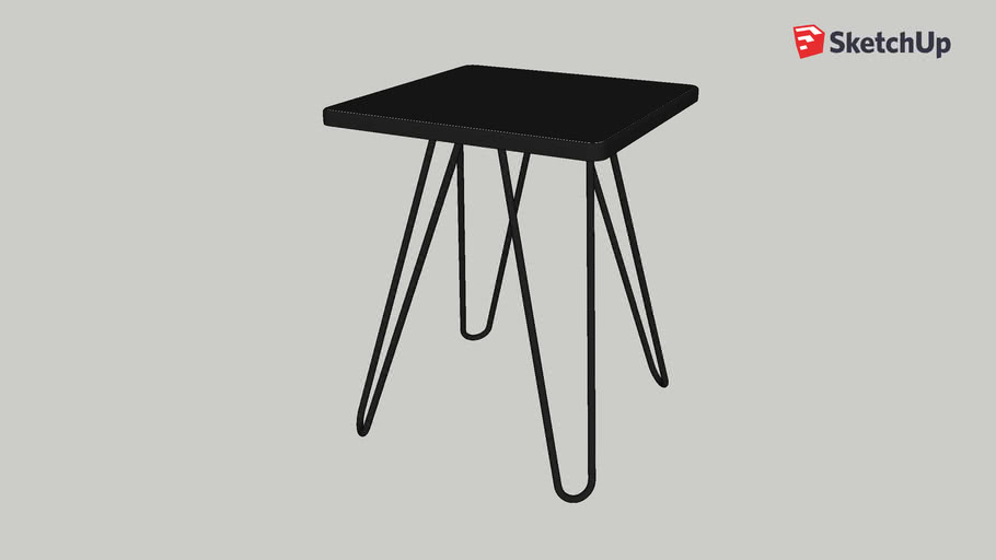 Cadix Table D Appoint Laquee Noire Habitat 3d Warehouse