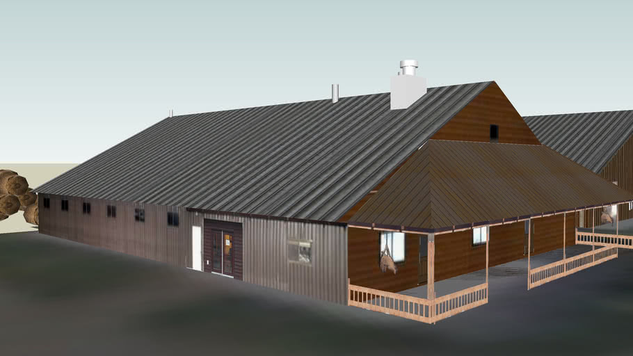 Office, Stables, Arena at the Bar W Ranch