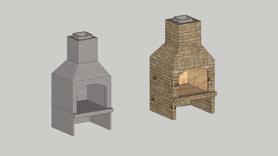 "Stone Age 36"" Standard Series Fireplace"