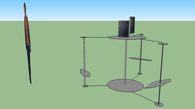 3 Bladed VAWT Design Sketch