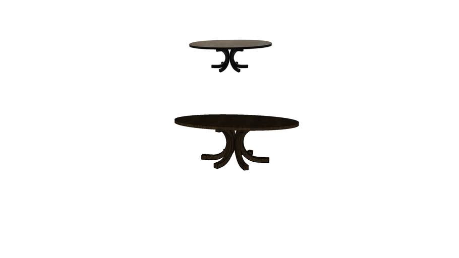 NEWBURY OVAL DINNING TABLE by VINOTI LIVING