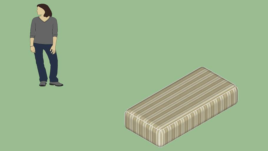 Colchão de solteiro - 0,90 x 1,90 x 0,40 m.