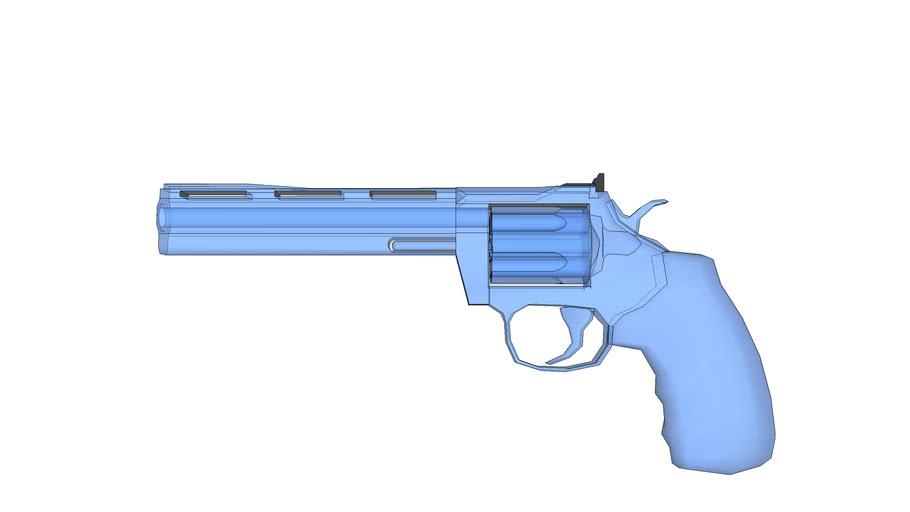Glass magnum revolver