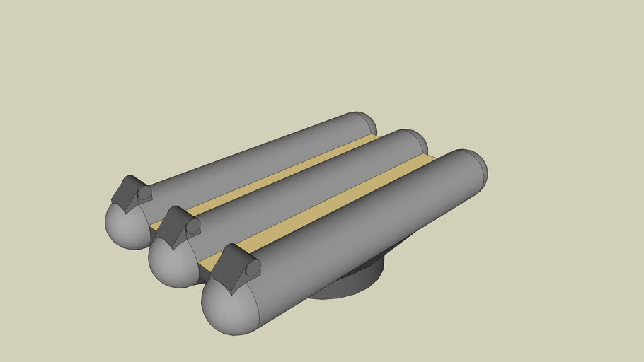 "36"" Triple Torpedo Launcher"