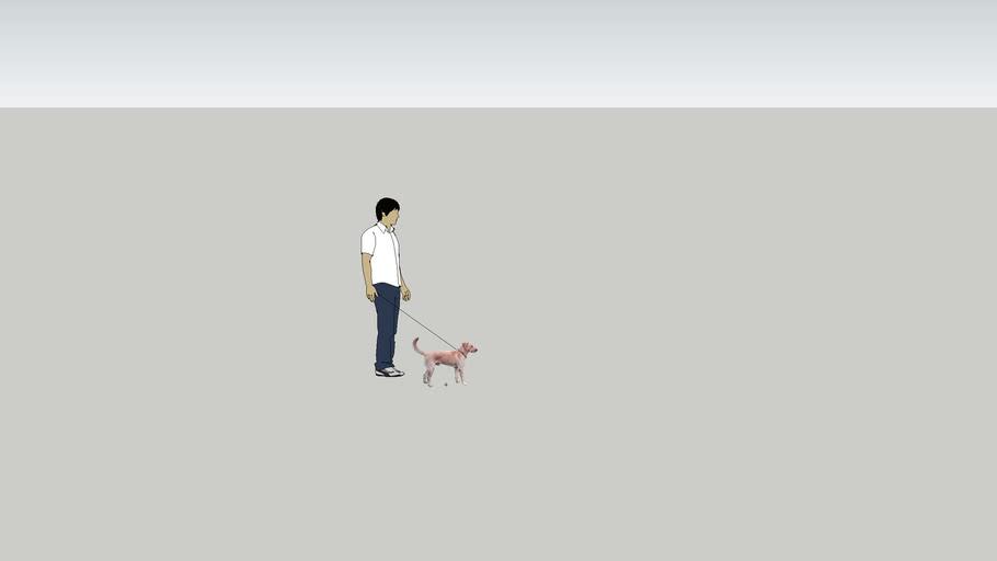 Sang has a doggie