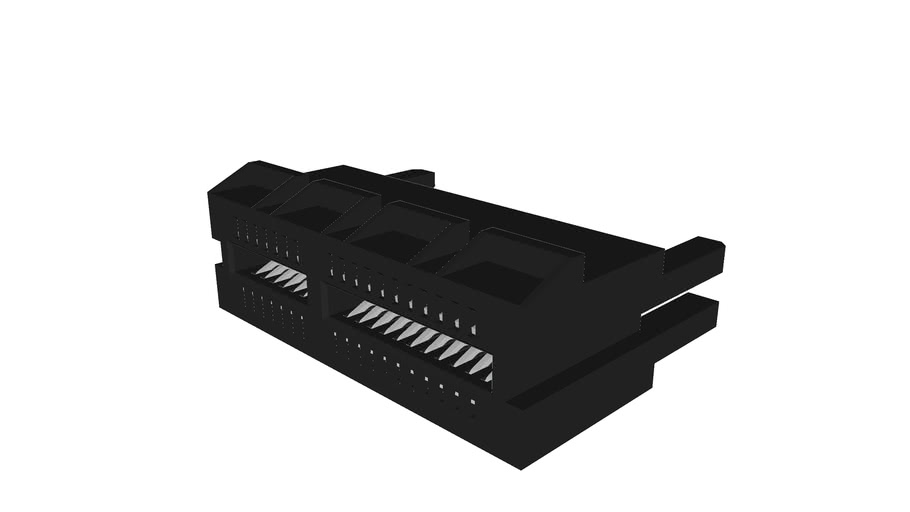 PCI Express Card Extender for Straddle Mount, 36 Contacts, with Pegs